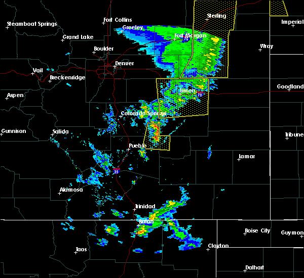 Radar Image for Severe Thunderstorms near Hugo, CO at 6/6/2020 6:11 PM MDT