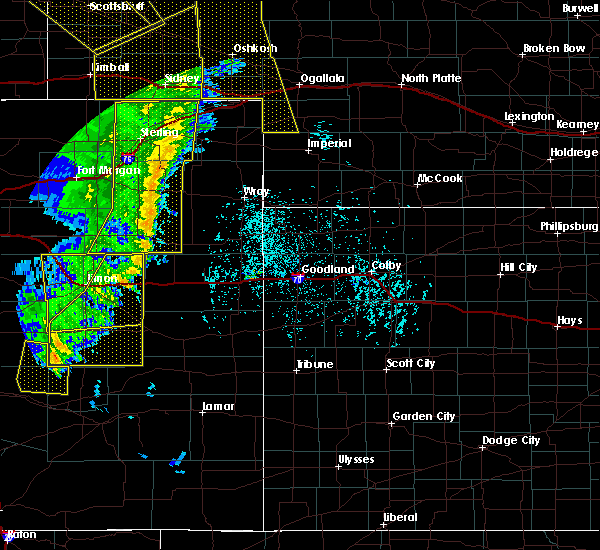 Radar Image for Severe Thunderstorms near Yuma, CO at 6/6/2020 6:19 PM MDT