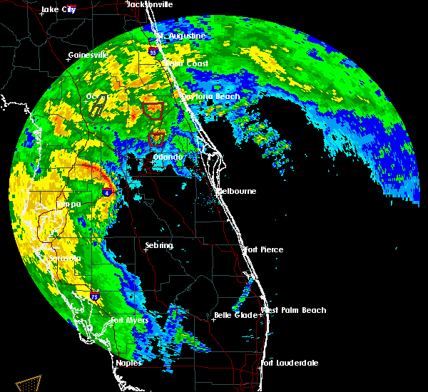 Radar Image for Severe Thunderstorms near DeLand, FL at 6/6/2020 8:22 PM EDT