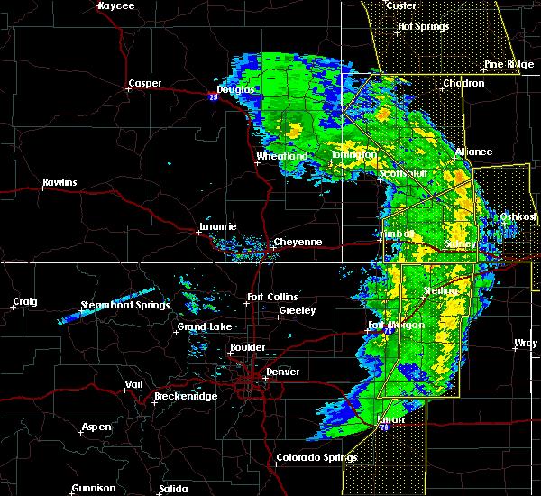 Radar Image for Severe Thunderstorms near Dix, NE at 6/6/2020 6:22 PM MDT