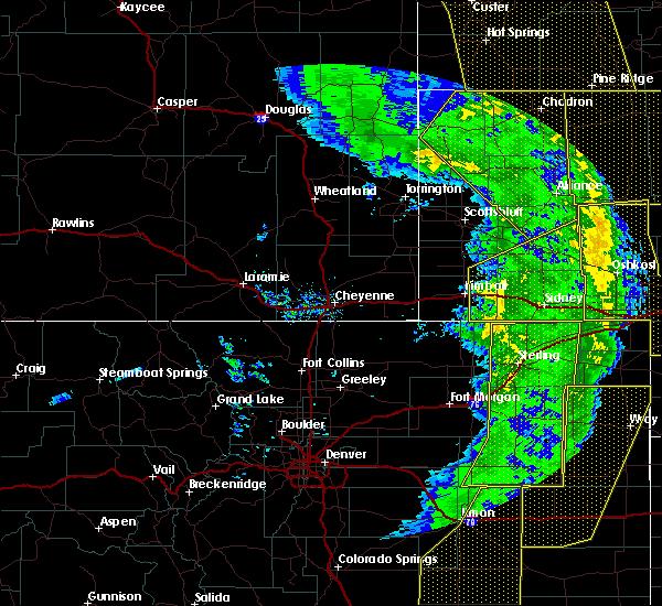 Radar Image for Severe Thunderstorms near Chadron, NE at 6/6/2020 6:35 PM MDT