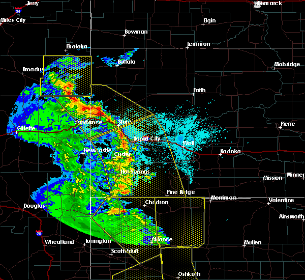 Radar Image for Severe Thunderstorms near Hill City, SD at 6/6/2020 6:38 PM MDT