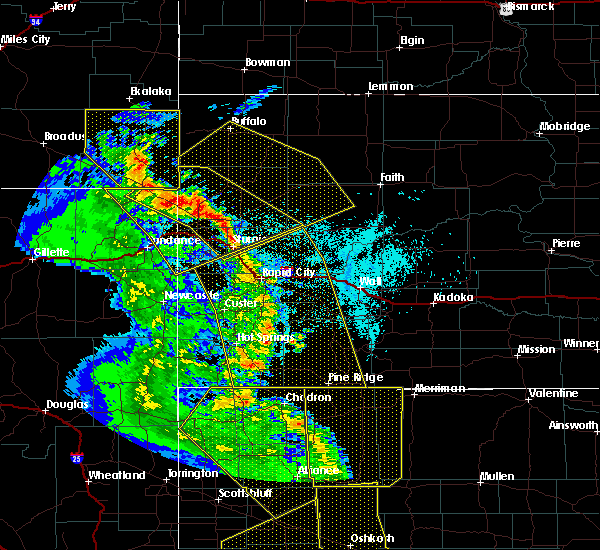 Radar Image for Severe Thunderstorms near Buffalo, SD at 6/6/2020 6:43 PM MDT