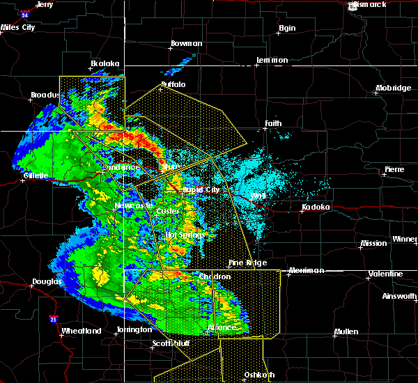 Radar Image for Severe Thunderstorms near Blackhawk, SD at 6/6/2020 6:45 PM MDT