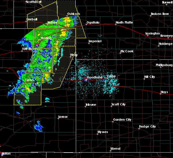 Radar Image for Severe Thunderstorms near Yuma, CO at 6/6/2020 6:47 PM MDT