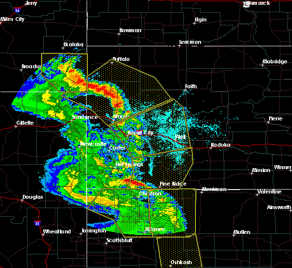 Radar Image for Severe Thunderstorms near Buffalo, SD at 6/6/2020 7:01 PM MDT