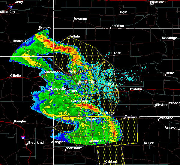 Radar Image for Severe Thunderstorms near Buffalo, SD at 6/6/2020 7:15 PM MDT