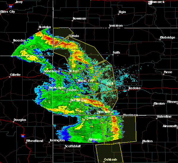 Radar Image for Severe Thunderstorms near Buffalo, SD at 6/6/2020 7:26 PM MDT