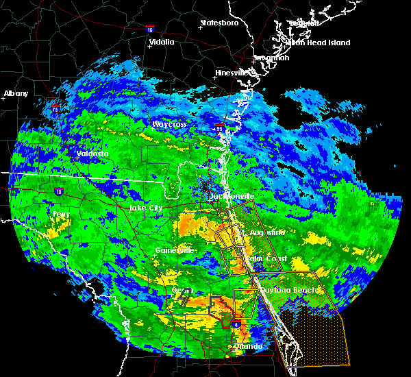 Radar Image for Severe Thunderstorms near Bunnell, FL at 6/6/2020 9:38 PM EDT