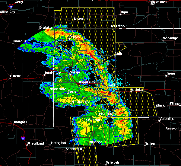Radar Image for Severe Thunderstorms near Buffalo, SD at 6/6/2020 7:46 PM MDT