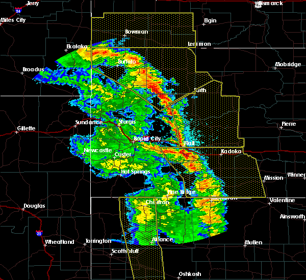 Radar Image for Severe Thunderstorms near Dupree, SD at 6/6/2020 7:49 PM MDT