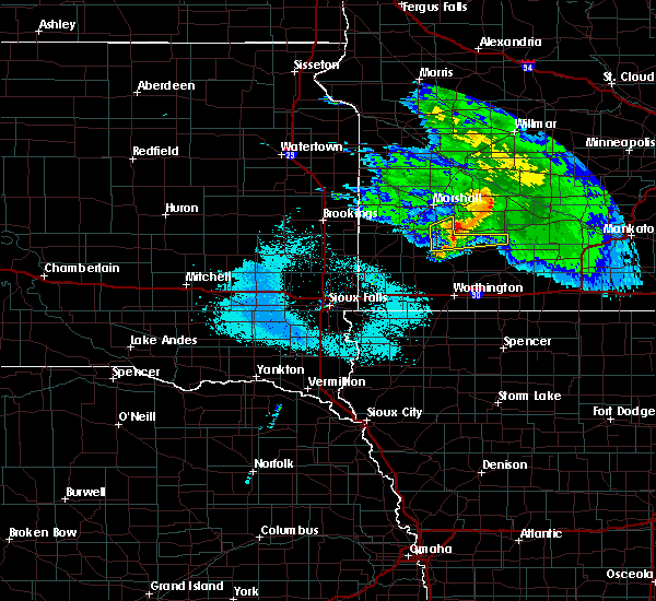 Radar Image for Severe Thunderstorms near Currie, MN at 6/6/2020 8:57 PM CDT