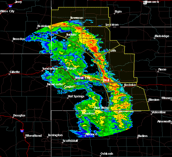 Radar Image for Severe Thunderstorms near Cottonwood, SD at 6/6/2020 8:04 PM MDT