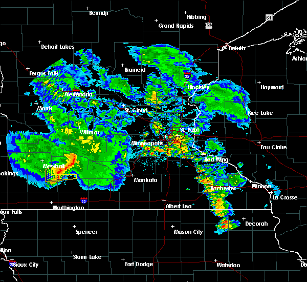 Radar Image for Severe Thunderstorms near Clements, MN at 6/6/2020 9:07 PM CDT