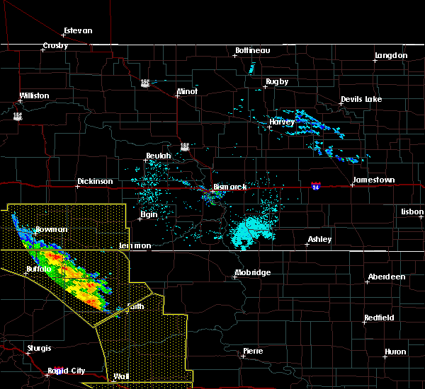Radar Image for Severe Thunderstorms near Amidon, ND at 6/6/2020 8:07 PM MDT