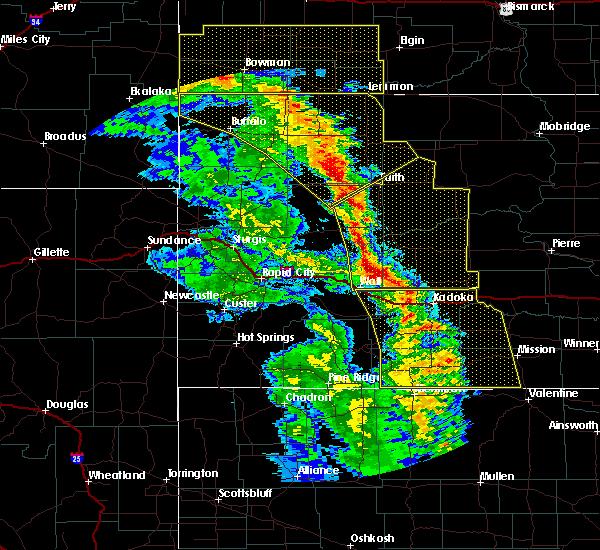 Radar Image for Severe Thunderstorms near Bison, SD at 6/6/2020 8:10 PM MDT