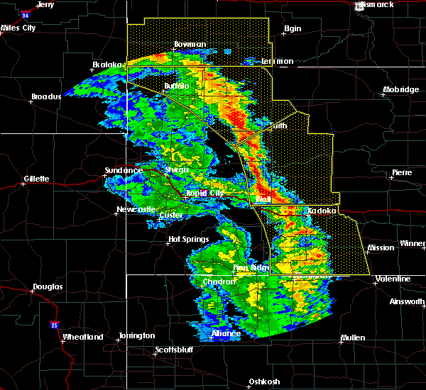 Radar Image for Severe Thunderstorms near Dupree, SD at 6/6/2020 8:12 PM MDT
