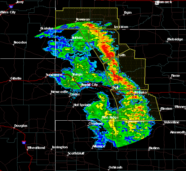 Radar Image for Severe Thunderstorms near Cottonwood, SD at 6/6/2020 9:24 PM CDT