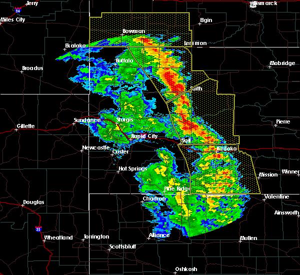 Radar Image for Severe Thunderstorms near Bison, SD at 6/6/2020 8:26 PM MDT