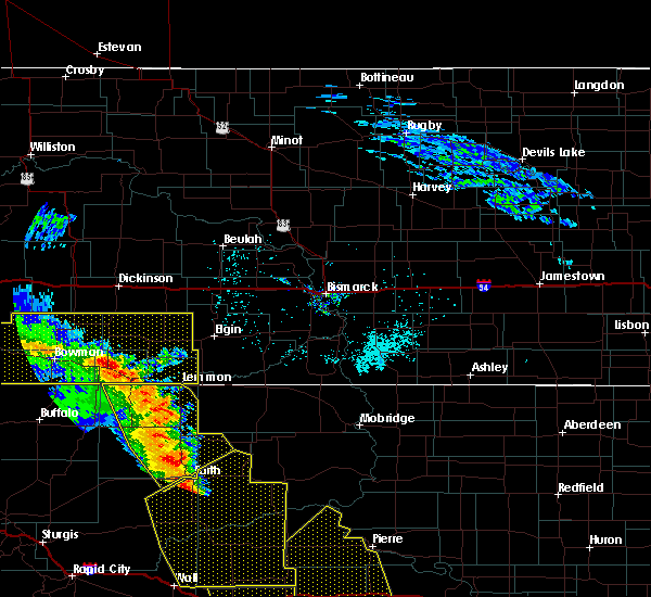 Radar Image for Severe Thunderstorms near Green Grass, SD at 6/6/2020 8:27 PM MDT