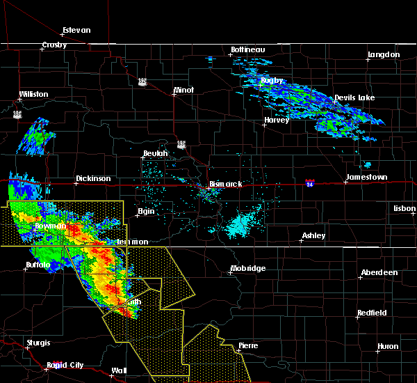 Radar Image for Severe Thunderstorms near Amidon, ND at 6/6/2020 8:39 PM MDT