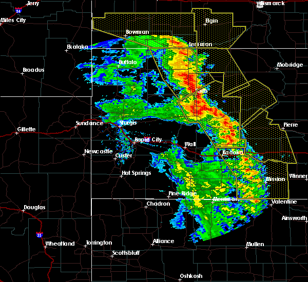 Radar Image for Severe Thunderstorms near Dupree, SD at 6/6/2020 8:43 PM MDT