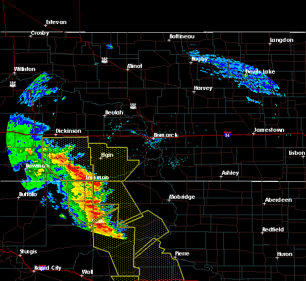 Radar Image for Severe Thunderstorms near New England, ND at 6/6/2020 8:50 PM MDT