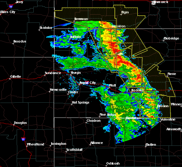 Radar Image for Severe Thunderstorms near Mission, SD at 6/6/2020 9:52 PM CDT