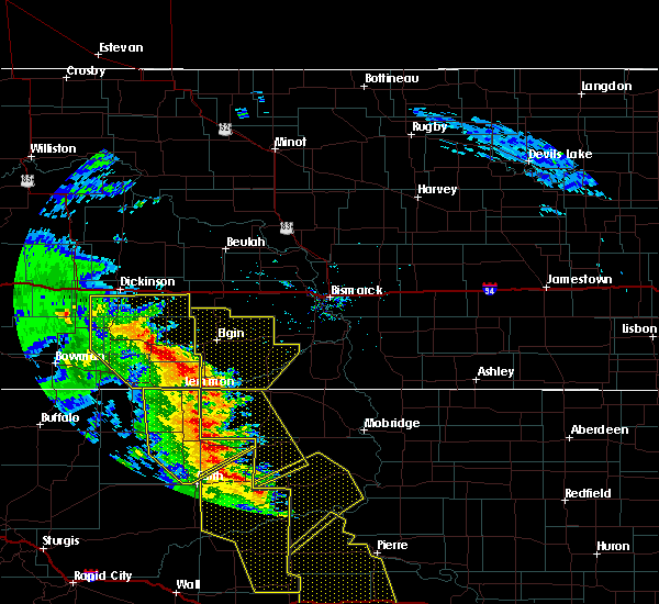 Radar Image for Severe Thunderstorms near New Leipzig, ND at 6/6/2020 9:01 PM MDT