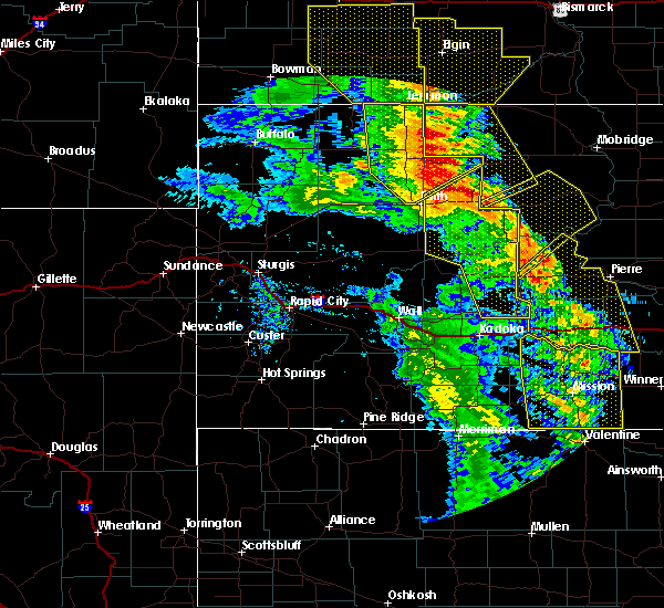 Radar Image for Severe Thunderstorms near Dupree, SD at 6/6/2020 9:03 PM MDT