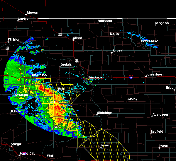 Radar Image for Severe Thunderstorms near New England, ND at 6/6/2020 9:11 PM MDT