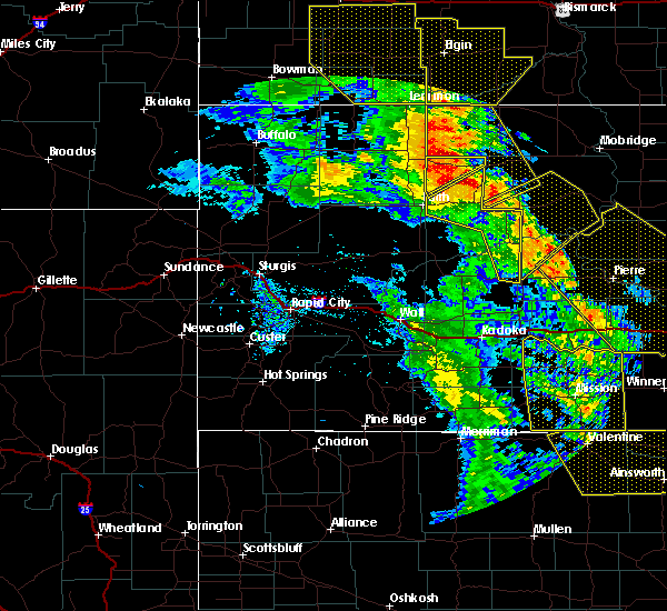 Radar Image for Severe Thunderstorms near Dupree, SD at 6/6/2020 9:11 PM MDT
