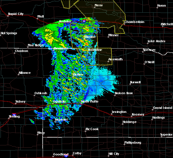 Radar Image for Severe Thunderstorms near Mission, SD at 6/6/2020 10:12 PM CDT