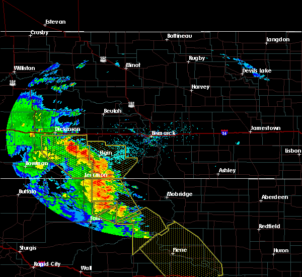 Radar Image for Severe Thunderstorms near Green Grass, SD at 6/6/2020 9:15 PM MDT