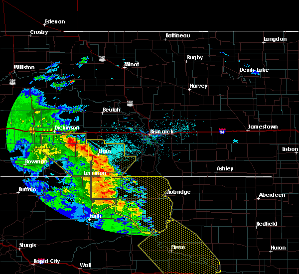 Radar Image for Severe Thunderstorms near New Leipzig, ND at 6/6/2020 9:19 PM MDT
