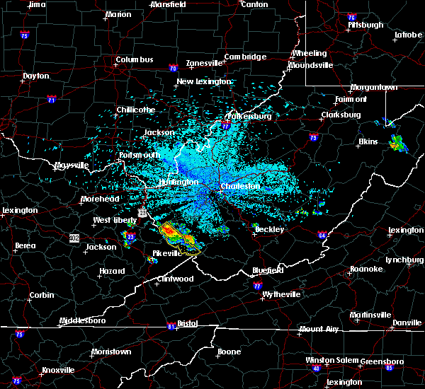 Radar Image for Severe Thunderstorms near South Williamson, KY at 6/6/2020 11:25 PM EDT