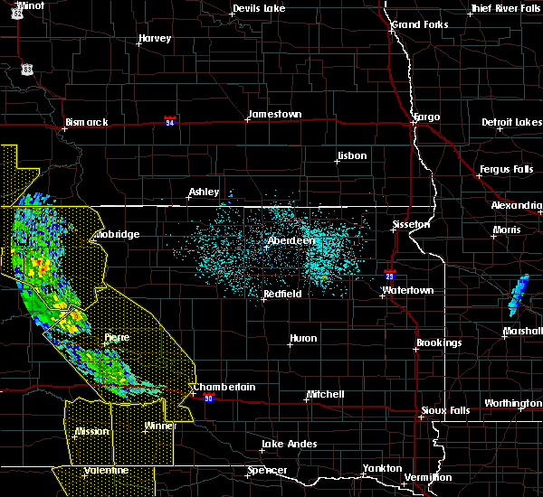Radar Image for Severe Thunderstorms near Vivian, SD at 6/6/2020 10:26 PM CDT