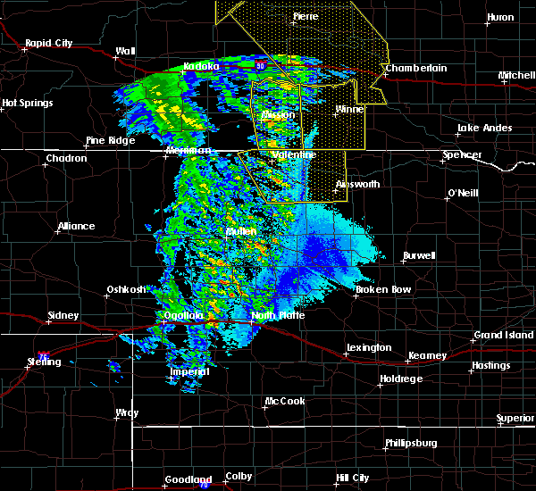 Radar Image for Severe Thunderstorms near Mission, SD at 6/6/2020 10:29 PM CDT