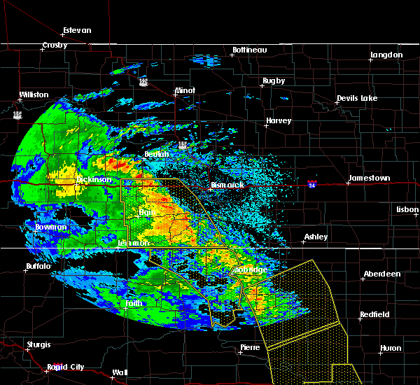 Radar Image for Severe Thunderstorms near Hebron, ND at 6/6/2020 11:00 PM CDT