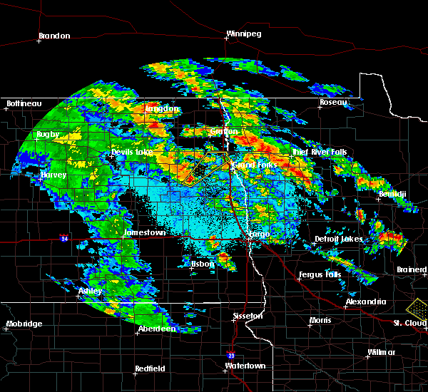 Radar Image for Severe Thunderstorms near Larimore, ND at 6/7/2020 1:49 AM CDT
