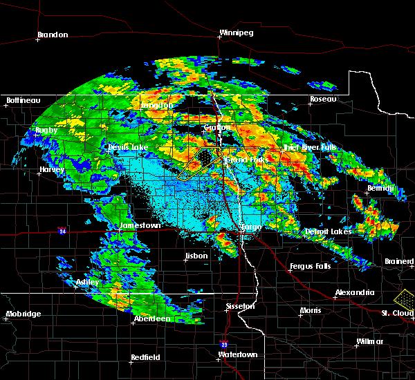 Radar Image for Severe Thunderstorms near Emerado, ND at 6/7/2020 2:04 AM CDT