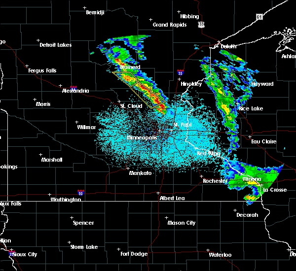 Radar Image for Severe Thunderstorms near Cambridge, MN at 6/7/2020 2:50 AM CDT