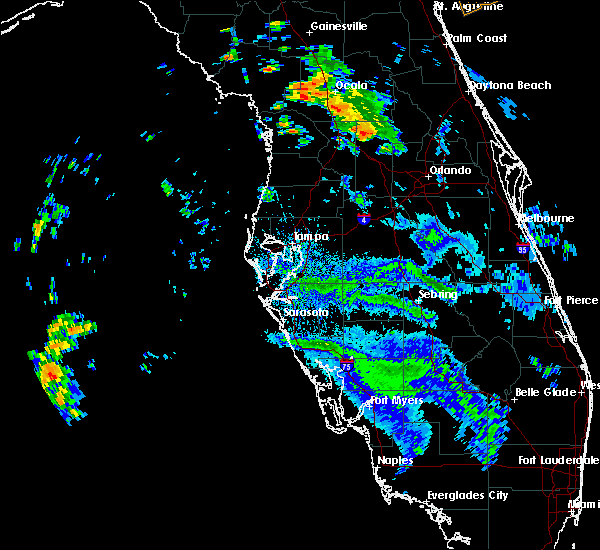Radar Image for Severe Thunderstorms near Lady Lake, FL at 6/7/2020 3:16 PM EDT