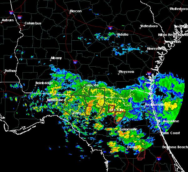 Radar Image for Severe Thunderstorms near Lake City, FL at 6/7/2020 4:14 PM EDT