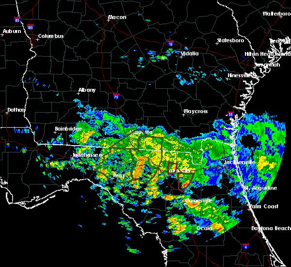 Radar Image for Severe Thunderstorms near Lake City, FL at 6/7/2020 4:26 PM EDT