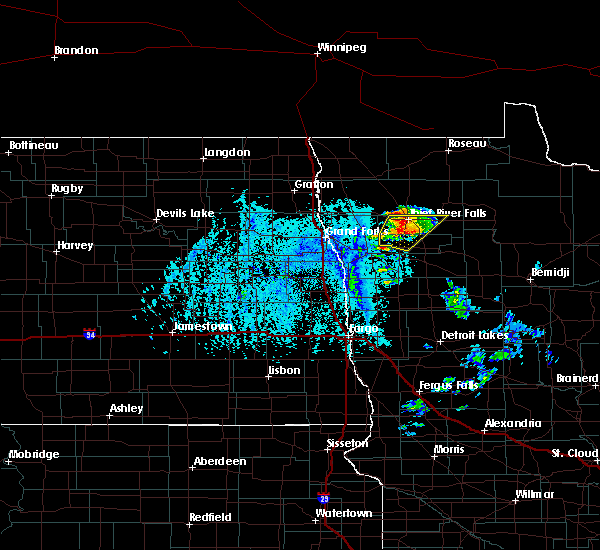 Radar Image for Severe Thunderstorms near Thief River Falls, MN at 6/7/2020 3:43 PM CDT