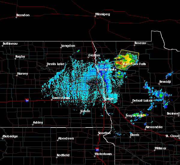 Radar Image for Severe Thunderstorms near Thief River Falls, MN at 6/7/2020 4:07 PM CDT