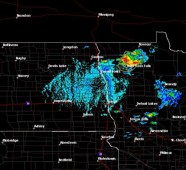 Radar Image for Severe Thunderstorms near Badger, MN at 6/7/2020 4:29 PM CDT