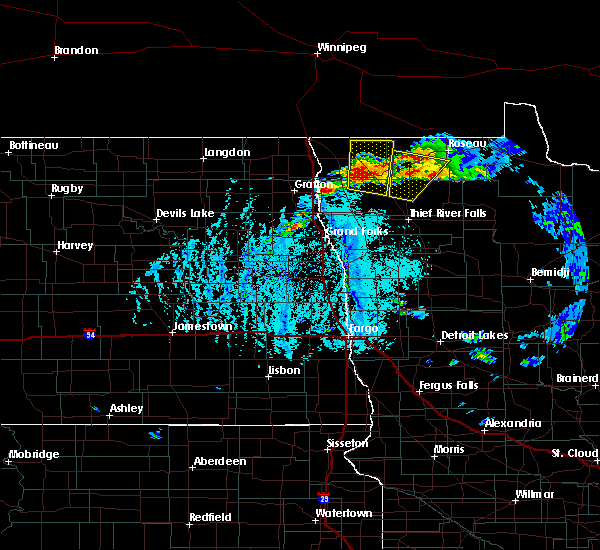 Radar Image for Severe Thunderstorms near Badger, MN at 6/7/2020 5:11 PM CDT