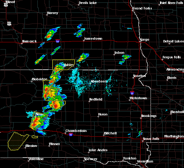 Radar Image for Severe Thunderstorms near Ashley, ND at 6/7/2020 6:07 PM CDT